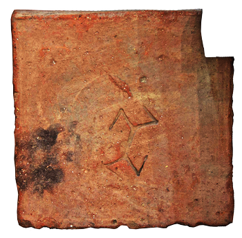 Тамга Аспурга на кирпиче